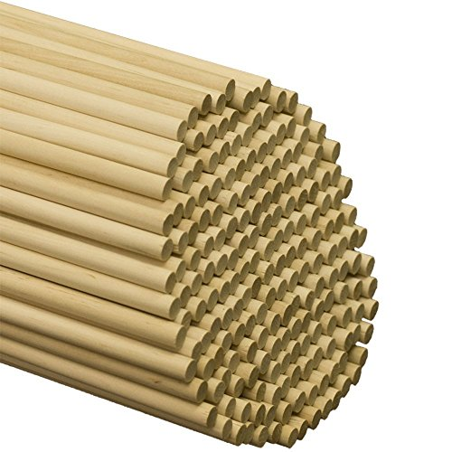 Perfect Stix Wooden Lollipops and Cake Dowel Rod, 1/4' Diameter x 12' Length (Pack of 500)