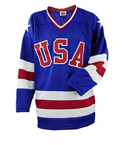 USA Hockey 'Miracle On Ice Adult Ice Hockey Jersey Away Blue, Home White