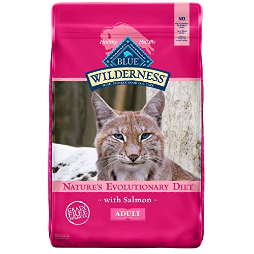 Blue Buffalo Wilderness High Protein Grain Free Natural Adult Dry Cat Food, Salmon 11-lb