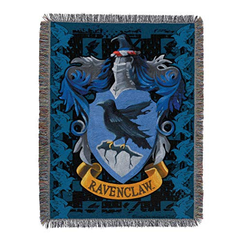 Harry Potter Ravenclaw Crest Woven Tapestry Throw Blanket, 48' x 60'