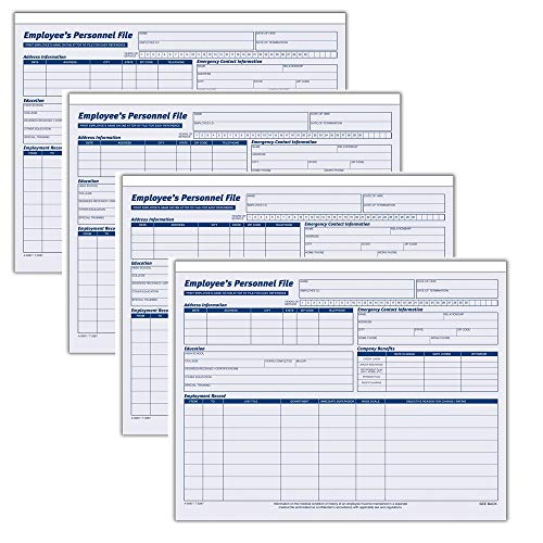 Adams Employees Personnel File Folder, Heavy Card Stock, 11-3/4 x 9-1/2 Inches, Pack of 20 Folders (9287ABF), 4 Pack