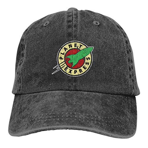 Unisex Adjustable Retro Cowboy Hat Planet Express Classic Baseball Cap Black