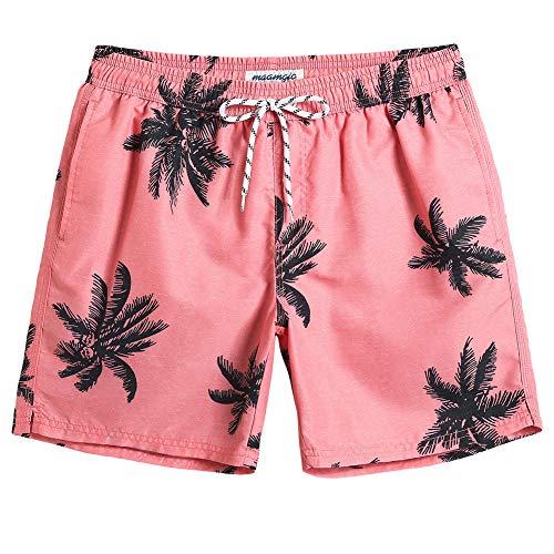 MaaMgic Mens Palm Tree Swim Trunks Bathing Suits Board Shorts Swimming Shorts