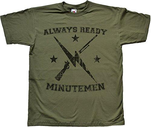 Teamzad Always Ready Distressed Green T Shirt Medium