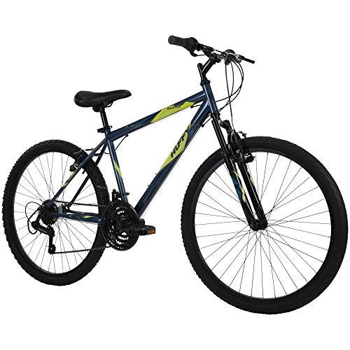 Huffy Hardtail Mountain Bike, Stone Mountain 24 inch 21-Speed, Lightweight, Dark Blue