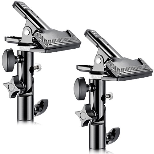 Neewer 2 PCS Photo Studio Heavy Duty Metal Clamp Holder with 5/8' Light Stand Attachment for Reflector