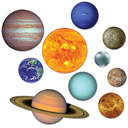 Beistle RED, Blue Solar System Cutouts (Prtd 2 Sides)