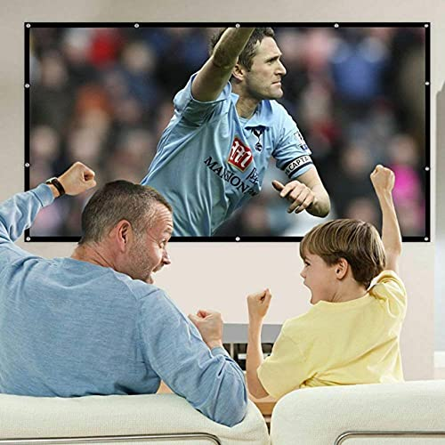 84 inch HD Projector Screen 16:9 Home Cinema Theater Foldable Anti-Crease Portable Projection Screen (84 Inch)