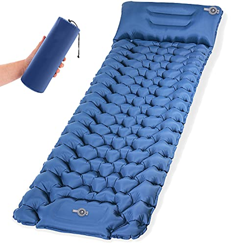 Self Inflating Sleeping Pad for Camping Thick 3.6 Inch Camping Mat with Foot Pump Ultralight Waterproof Camping Air Mattress for Tents | Backpacking | Hiking | Traveling