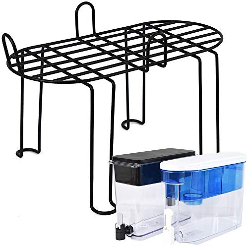Annvchi Accessories for Brita Compatible with Brita 18 Cup, PUR DS1800Z Tabletop Stainless Steel Frame high Stand, Water Dispenser Support Frame Water Purifier Frame