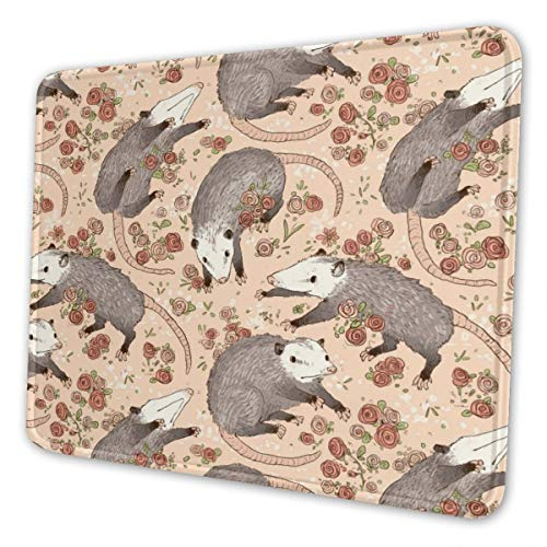 Gaming Mouse Pad - Befuddled Possums Rectangle Rubber Mousepad - 8.3 X 10.3 in X 0.12''(3mm Thick) Mouse Mat for Gift Support Wired Wireless Or Bluetooth Mouse