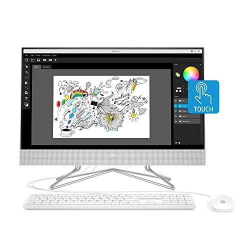 HP 24-inch All-in-One Touchscreen Desktop Computer, AMD Ryzen 5 4500U Processor, 12 GB RAM, 512 GB SSD, Windows 10 Home (24-dp0160, Silver)