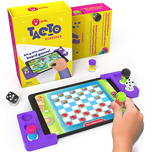 Tacto Classics by PlayShifu (app Based) - Interactive Board Games for Family Game Night, Strategy Games Gifts for Boys & Girls for Ages 4+