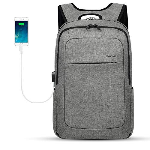 KOPACK Slim Laptop Backpacks Anti Thief Business Computer Bag College School 15 15.6 inch Gray
