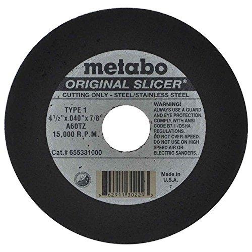 Metabo Slicer Cut Off Wheel 4-1/2' X .040 Box Of 100