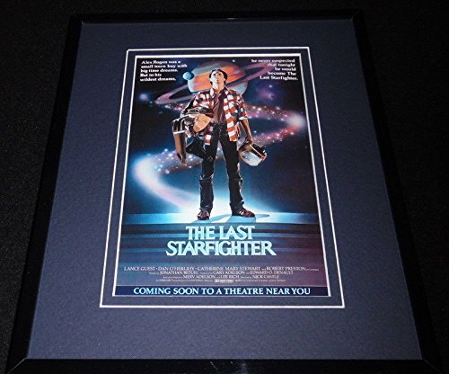 The Last Starfighter Framed 8x10 Repro Poster Display Lance Guest Dan O'Herlihy