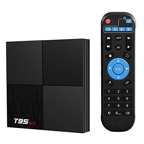 T95 Mini Android 9.0 TV Box, TUREWELL Android TV Box 2GB RAM 16GB ROM TV Box H6 Quadcore cortex-A53 Smart TV Box 2.4GHz WiFi 3D 6K Android Box Streaming Media Player