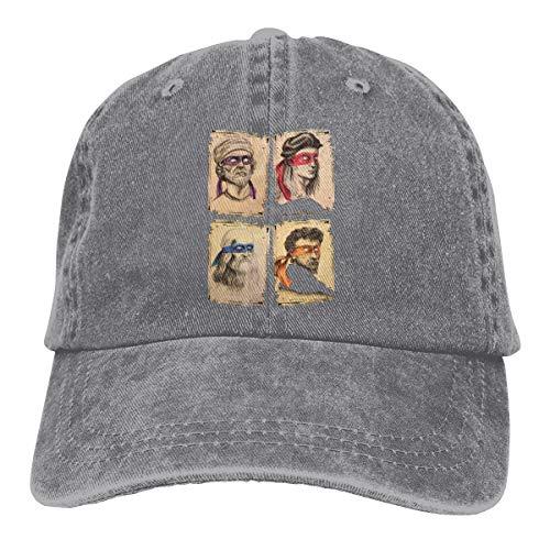 ROBETT TMNT As Real Masters Science Unisex Vintage Adult Adjustable Baseball Cap Denim Dad Hat