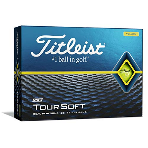 Titleist Tour Soft Golf Balls, Yellow, (One Dozen)