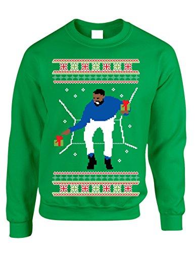 Allntrends Adult Crewneck 1-800 Hotline Bling Ugly Christmas Sweater (3XL, Irish Green)