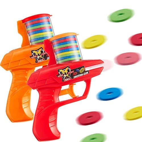 Sumind 2 Pieces Foam Disc Launcher Zip Shot Shooter Disc Shooter Random Color
