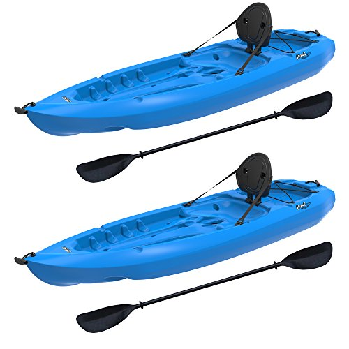 Lifetime Lotus Sit-On-Top Kayak with Paddle (2 Pack), Blue, 8'