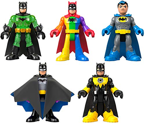 Fisher-Price Imaginext DC Super Friends Batman 80th Anniversary Collection, Figure 5-Pack, Amazon Exclusive