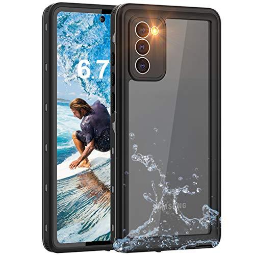 YOGRE Samsung Note 20 Waterproof Case, Built-in Sensitive Screen and Full Body Waterproof Dustproof Dust-Proof Dirt-Proof Snowproof Heavy Duty Clear Phone Cases for Samsung Note 20, 6.7 inch, Black