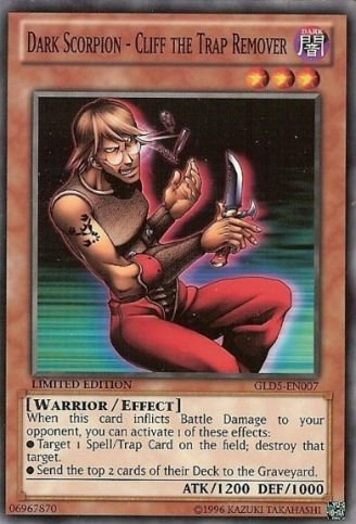 Yu-Gi-Oh! - Dark Scorpion - Cliff The Trap Remover (GLD5-EN007) - Gold Series: Haunted Mine - Limited Edition - Common