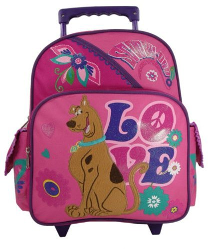 Scooby Doo 'Peace & Love' Toddler 12' Rolling Backpack