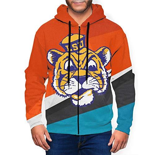 Lsu-Tigers-Football Men And Women Women'S Fashion Hoodies & Sweatshirts,Black Zip Up Hoodie,Maverick Fashion Print Graphic Mens Hoodies.Large