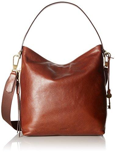 Fossil Women's Maya Leather Small Hobo Handbag, Brown