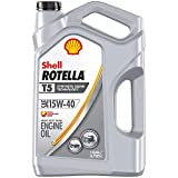 Shell Rotella T5 Synthetic Blend 15W-40 Diesel Engine Oil (1 Gallon, Single Pack)
