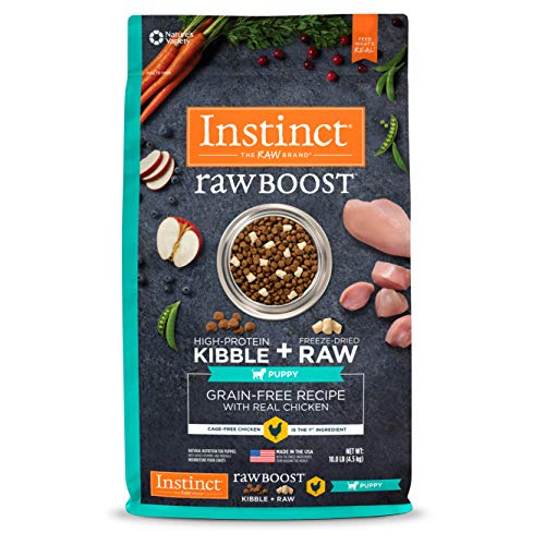 Instinct Raw Boost Puppy Grain Free Recipe with Real Chicken Natural Dry Dog Food by Nature's Variety, 10 lb. Bag