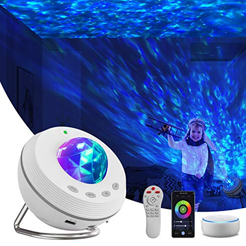 Star Projector, Night Light Projector 4 in 1 Galaxy Projector 85° Rotating,with Bluetooth Music Speaker Phone App Remote Control for Baby Kids Bedroom/Game Rooms/Home Theater/Birthday/Party /Wedding