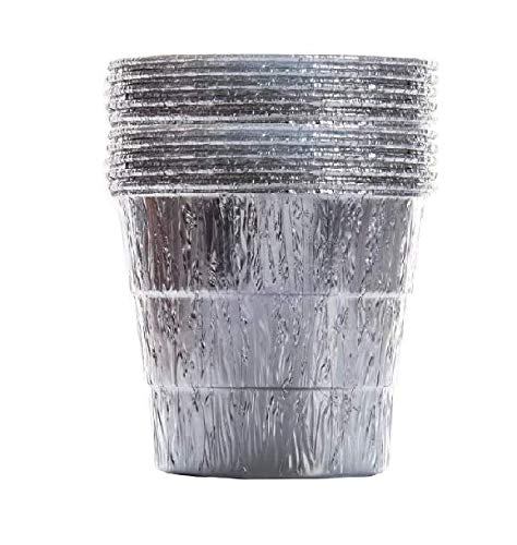 6 Inch High Grease Bucket Liner, Aluminum Foil Bucket Liner Disposable Compatible with Pit Boss, Oklahoma Joe's, Rec Tec, Camp Chef, Traeger, GMG & Z Grill, Fit Most Large Grill Drip Bucket - 10 Pack