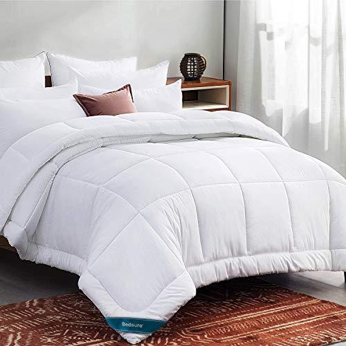 Bedsure Queen Comforter Duvet Insert White - Quilted Bedding Comforters for Queen Bed with Corner Tabs