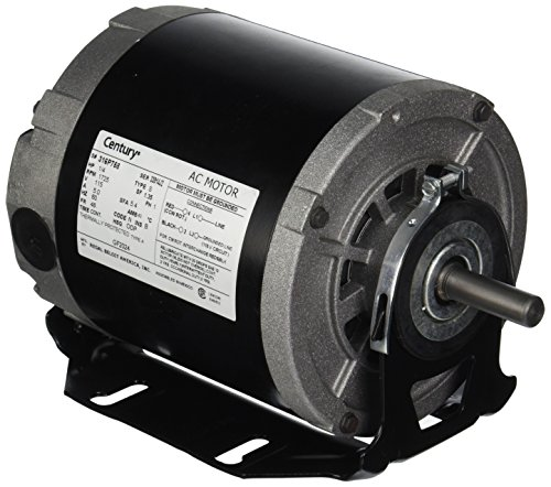 A.O. Smith GF2024 Century Resilient Base Split Phase Electric Motor, 115 Vac, 5.4 A, 1/4 Hp, 1725 Rpm