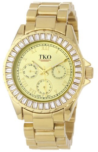 TKO ORLOGI Women's TK520-GD Capri Metal Gold Swarovski Crystal Watch