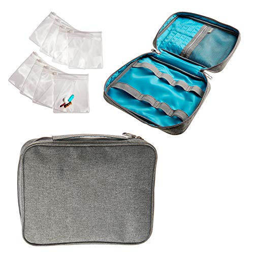 Smooth Trip Slash-Resistant Medicine Organizer Bag with 8 Pill Pouches