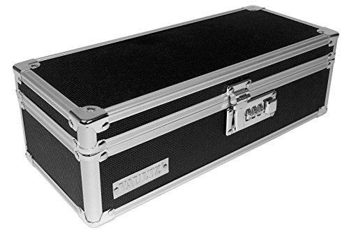 Vaultz Locking Medicine Storage Box with Combination Lock, 3.75' x 11.88' x 5.25', Black (VZ03480)
