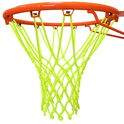LEADTEAM Glow In The Dark Basketball Net,Basketball Hoop Net Replacement,All-Weather Heavy Duty Thick Basketball Net,Outdoor Indoor Basketball Net,Professional Standard Size Basketball Goal Net