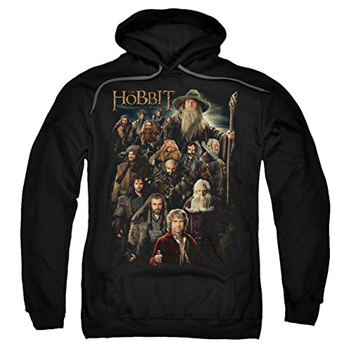 Hoodie: The Hobbit: An Unexpected Journey - Somber Company Pullover Hoodie Size XL