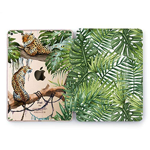 Wonder Wild Case Compatible with Apple iPad Tropical Cheetah Pro 9.7 11 inch Mini 1 2 3 4 Air 2 10.5 12.9 11 10.2 5th 6th Gen Hard Cover Animals Nature Hunters Forest Greenery Cats Leopard Top