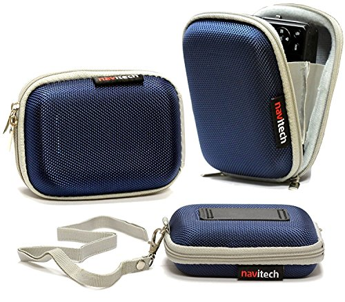 Navitech Blue Water Resistant Hard Wireless Earphone Case Cover Compatible with The APIE Bluetooth Wireless Headset Ear Hooks Earphones Noise Cancelling in-Ear Earbuds