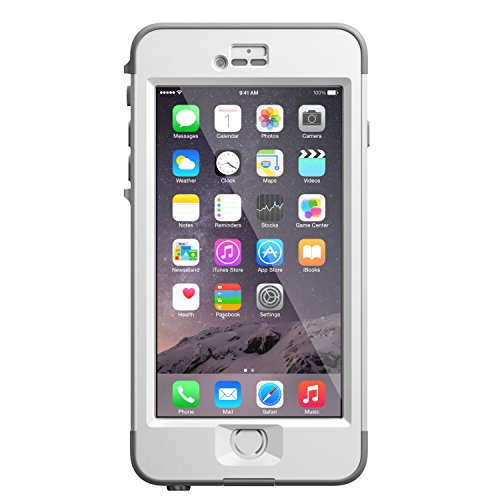LifeProof NÜÜD iPhone 6 Plus ONLY Waterproof Case (5.5' Version) - Retail Packaging - AVALANCHE (BRIGHT WHITE/COOL GREY)