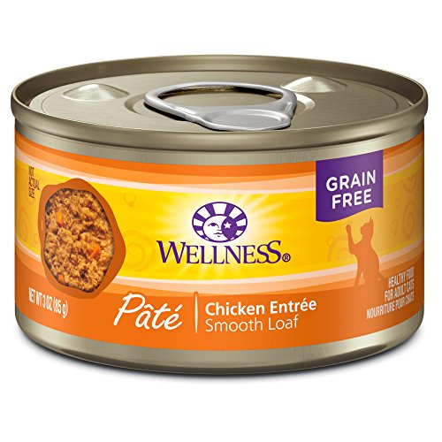 Wellness Complete Health Grain Free Canned Cat Food, Chicken, 3 Ounces (Pack of 24)