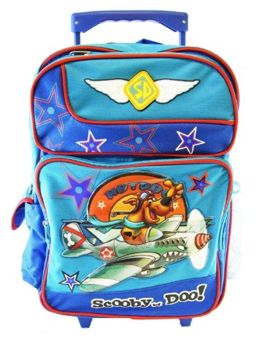 Scooby Doo Rolling Backpack - Full Size Scooby Doo Wheeled Backpack