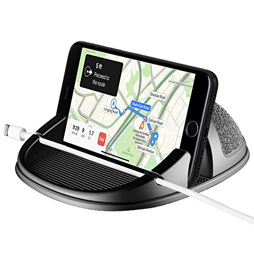 WIFORT Car Phone Holder Dashboard Non-Slip,Universal Car Mount for Mobile Phone,Car Cell Phone Holder Hand Free for iPhone 11 pro max Xs Max XR X 8 7 SE 2020 Samsung Galaxy Note 10 Plus S9 S8,and More