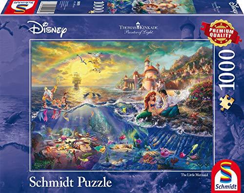 Schmidt Spiele 59479 Thomas Kinkade Disney The Little Mermaid Jigsaw Puzzle, Multi-Colour